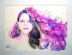 Retrato de Camila en tinta china de Judith Grettell Figueroa