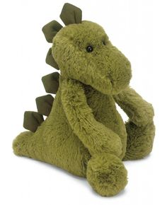 Cute and cuddly, this dinosaur from Jellycat will become your little one's new best friend in no time. With a super-soft feel and majestic spines on its back, this Bashful Dino toy makes a wonderful gift for dinosaur lovers. Pet Toys, Baby Toys, Toys Uk, Kids Toys, Dinosaur Age, Dinosaur Nursery, Dinosaur Birthday, Jellycat, Baby Kind