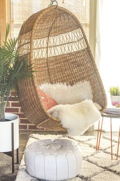 It takes just 30 minutes to properly hang a mid-century inspired woven basket chair if done correctly.