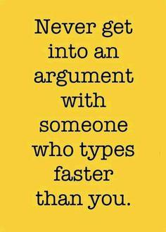 The Faster Typist Always Win