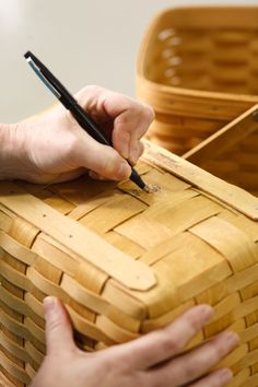 Our basketmakers are so proud of their work that they sign the bottom of Longaberger baskets