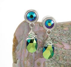 DIY earrings with Tierra Cast bezels and Artistic Wire.