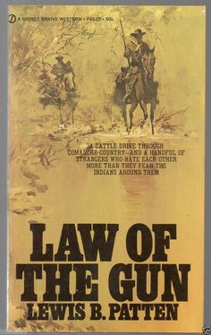 1961 Vintage Western paperback Law of The Gun by Lewis Pattern