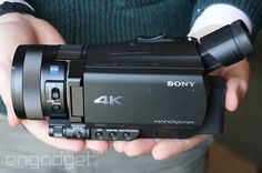Sony's compact FDR-AX100 4K Handycam ships in March for $2,000 #CES2014