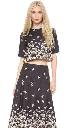 SUNO Godet Top and Skirt