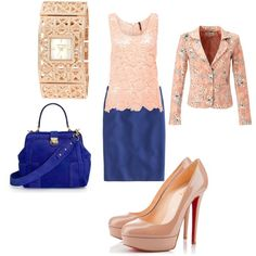 """""""Pink and Royal blue"""" by shortnsweet21 on Polyvore"""