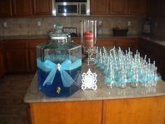 recycled starbucks bottles for drink jars.