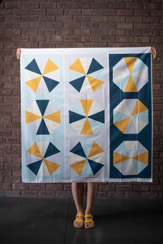 Octagon Table Runner Panels - Winter Colorway — String & Story