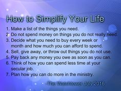 Seek the Kingdom, Not Things 7 Good Points