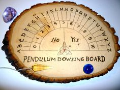 Pendulum Dowsing Board Ouija, Pendulum Board, Real Witches, Magic Crafts, Kitchen Witch, Planner, Book Of Shadows, Pyrography, Woodworking Plans