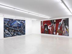 Collezione Maramotti, Exhibition view, artworks by: Enzo Cucchi, Mimmo Paladino, Ph. C. Dario Lasagni, courtesy Collezione Maramotti, Reggio Emilia