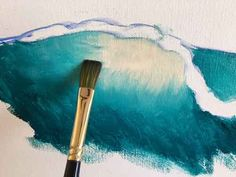 How to Paint a Wave Abstract Ocean Painting, Acrylic Painting Lessons, Acrylic Painting Tutorials, Seascape Paintings, Artist Painting, Painting Techniques, Dry Brush Painting, Boat Art, Guache