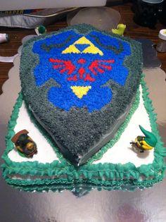 Legend of Zelda shield.  Birthday cake