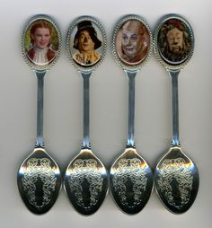 The Wizard of OZ 4 Silver Plated Collectible Spoons Featuring The Wizard of OZ