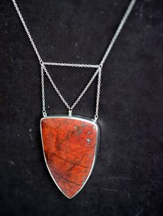 it was here before we noticed it...Sonora sunrise cuprite chrysocolla in sterling silver necklace