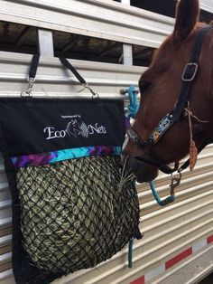 Looking for year end prizes?? We offer custom embroidery on our Nets, Trailer Savers, Horse Holsters & Halters Holsters~keep ur phone on u, not ur saddle !! New ~ Latigo/Billet sets~from $35 Handmade Halters w/decorated nose bands Add some color to your ride !! Visit www.econets.ca for more details call toll free 1-844-326-6387 Summer hours~ Tue, Wed, Thur 10-2 The hay nets Horses & Owners love to use !!