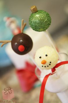 Festive Holiday Cake Pops! by Pink Cake Box in Denville, NJ.