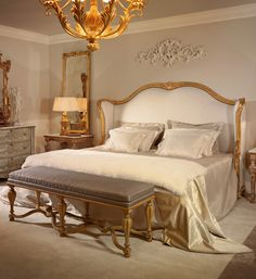 antique french bed in bedroom houzz - Bing Images Country Furniture, Classic Furniture, Luxury Furniture, Furniture Design, Garden Furniture, Wood Furniture, French Bed, Upholstered Beds, Beautiful Bedrooms