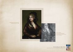 """Read more: https://www.luerzersarchive.com/en/magazine/print-detail/tintas-coral-43106.html Tintas Coral (""""Doña Isabel de Porcel,"""" painted by Francisco de Goya in 1805. Man in uniform discovered beneath the painting """"Doña Isabel de Porcel,"""" after x-ray analysis. – Pay-off: Not even they got it right at first. Coral Color Test. You test before painting your wall.) Campaign for Coral brand paint. Tags: Leo Burnett Tailor Made, São Paulo,Tintas Coral,Carla Cancellara,Henrique Del Lama"""