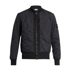 Stone Island Crinkle-effect bomber jacket (6.283.335 IDR) ❤ liked on Polyvore featuring men's fashion, men's clothing, men's outerwear, men's jackets, menswear, navy, men's navy bomber jacket, mens slim jacket, old navy mens jackets and mens water resistant jacket