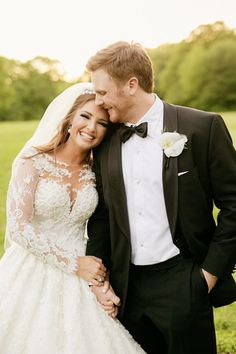 All smiles between Collins Tuohy of 'The Blindside' and her groom: http://www.stylemepretty.com/tennessee-weddings/memphis/2016/10/27/the-blind-side-collins-tuohy-wedding-photos/ Photography: Chard - http://www.chardphoto.com/blog/