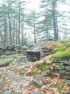 Stone cairns at Amer