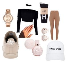 """""""Champagne"""" by babygirlnia14 ❤ liked on Polyvore featuring adidas, MICHAEL Michael Kors, Nasaseasons and Chloé"""