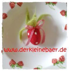 ♥ ♥ gefilzte Erdbeere ♥ ♥