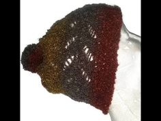 Loom Knit Dragonfly Lace Hat Beginning to End - YouTube