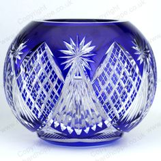 VINTAGE c.1920s VAL ST. LAMBERT THOMAS COBALT OVERLAY CRYSTAL ROSE BOWL. This item is sold, to visit my website to see what's in stock click here: http://www.richardhoppe.co.uk or for help or information email us here: info@richardhoppe.co.uk