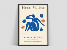 Henri Matisse - art Exhibition Poster of the highest quality. Art print on eco-friendly FSC paper. Acrylic Painting Lessons, Watercolor Paintings Abstract, Watercolor Artists, Abstract Oil, Painting Art, Henri Matisse, Matisse Art, Nature Prints, Art Prints