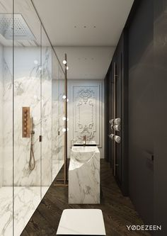 Located in the heart of Kiev, this modern apartment by YØ DEZEEN uses a strong contemporary interior design theme accented with classical ornamentation. This s