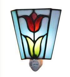 Add A Little Springtime To Your Decor With Our Tiffany Style Stained Glass  Tulip Night Light.