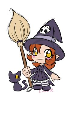 chibi witch by *rongs1234 on deviantART