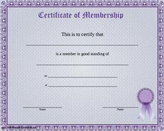 life membership certificate templates - free life membership certificate template free