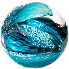 Environmental series paperweight: Cresting Wave