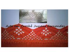 Luty Artes Crochet: Barrados e gráficos Crochet Borders, Crochet Edgings, Crochet Stitches, Crochet Hooks, Tricot Crochet, Bath Linens, Trapper Keeper, Tejidos, Pintura