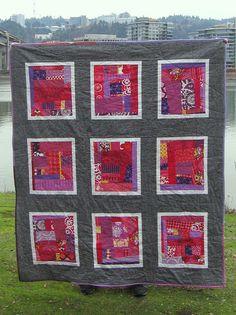 improv quilt 1 by NeedleAndSpatula, via Flickr