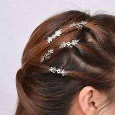 Fashion Simple Style Wedding Hair Claws Hairpieces Hairstyles Gold Silver Plated Leaves Hair Accessores Jewelry Organizer Deco #WeddingHairstyles
