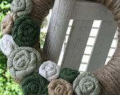 Spring Jute Yarn Wreath/St. Patrick's Day/Everyday/Winter/Burlap Flowers/Roses