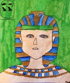 Third Grade Self Portraits- Egyptian Style