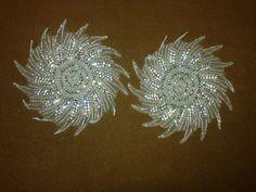 Crystal Rhinestone Applique Beaded Bridal Appliques. Silver Star Applique. Silver Appliques on Etsy, $50.00