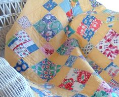 Another of Darlene Zimmerman's FeedsackLady quilt kits.  Love the yellow
