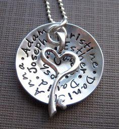 My FAMILY holds a KEY to my HEART   Necklace by jcjewelrydesign, $79.00