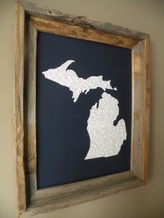 Michigan In A Nutshell Word Art Map Print by fortheloveofmaps, $22.00