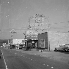 Kroger, Chrisman ACE Hardware and the Town & Country Restaurant.  This looks like mid to late 50s. Maybe very early 60s.