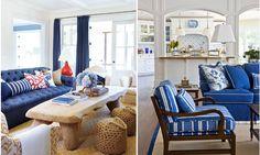 divani blu, stile Nautical
