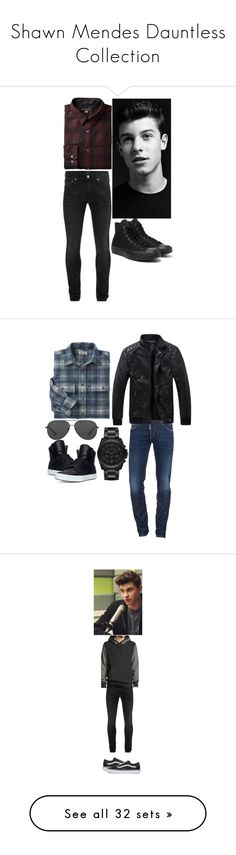 """Shawn Mendes Dauntless Collection"" by elizabethwoods809 ❤ liked on Polyvore featuring Alexander McQueen, Converse, men's fashion, menswear, Dsquared2, L.L.Bean, Michael Kors, Supra, rag & bone and Vans"