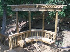 Pergolas - I like this pergola  bench concept