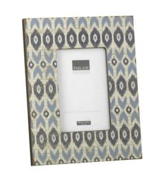 """Buy Parlane Blue Photo Frame with 'Ikat' Pattern - Holds 4"""" x 6"""" Photo from our All Frames range - Tesco"""